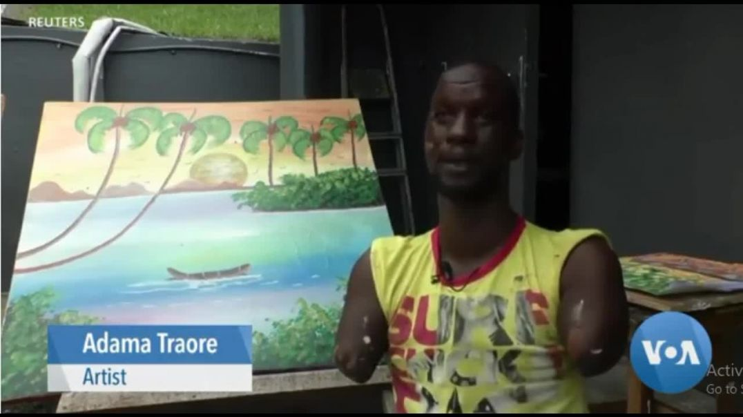 Inspirational African Artist Without Arms Or Legs