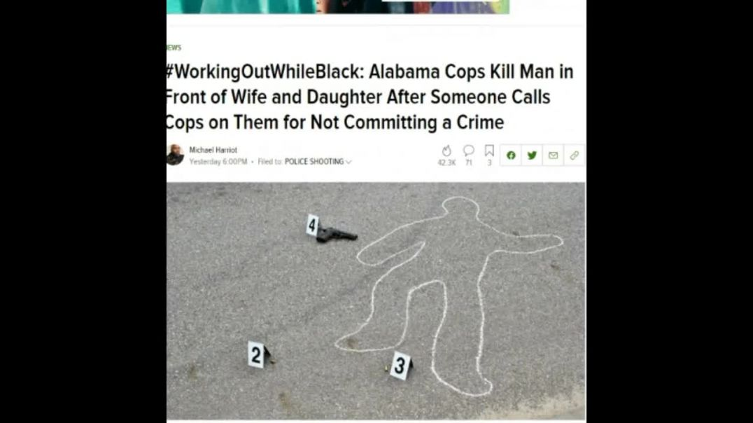 Alabama Unarmed Black Man Killed By Cops In Front Of Wife and Daughter Outside Planet Fitness