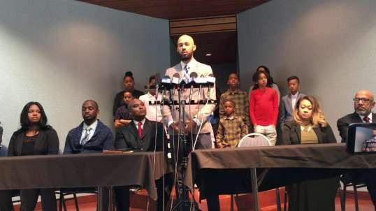 Press conference for Customers who faced racism at  Buffalo Wild Wings
