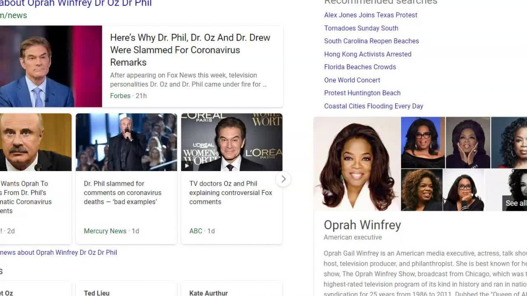 Oprah blamed for Dr. oz and  Dr' PHil's comments.mp4