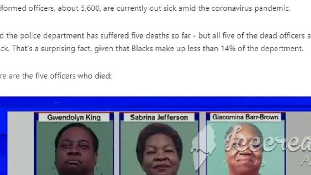 5 New York Cops Who Allegedly Died of CV Were Black Or Was It The CV