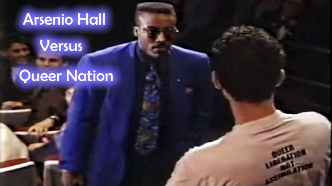 Arsenio Hall Checks Queer Nation Hecklers