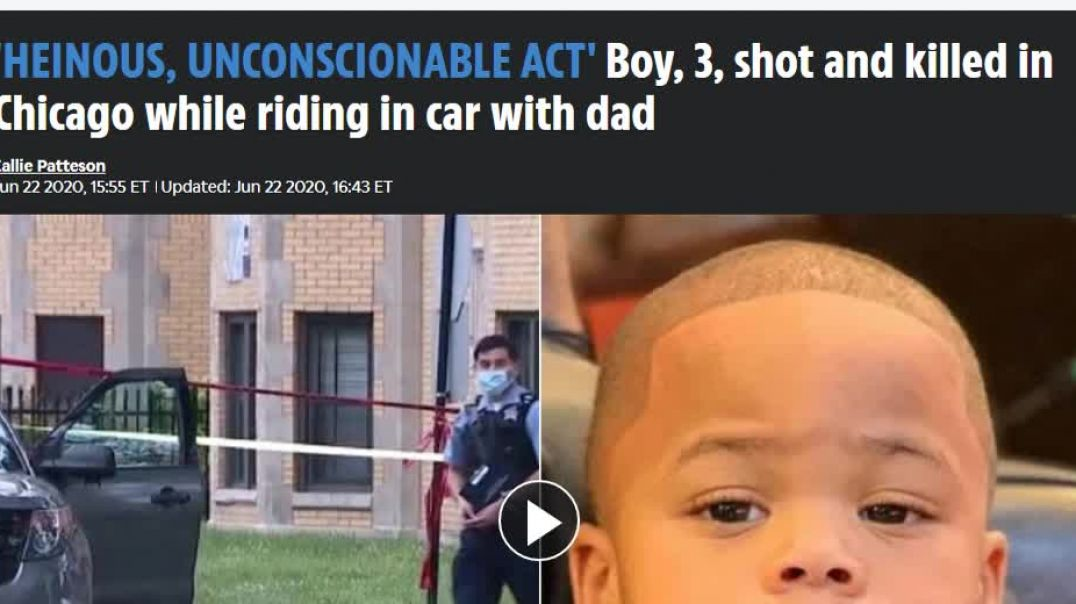 Chicago 3 Year Old Boy Shot and Killed While Riding In Car With Father