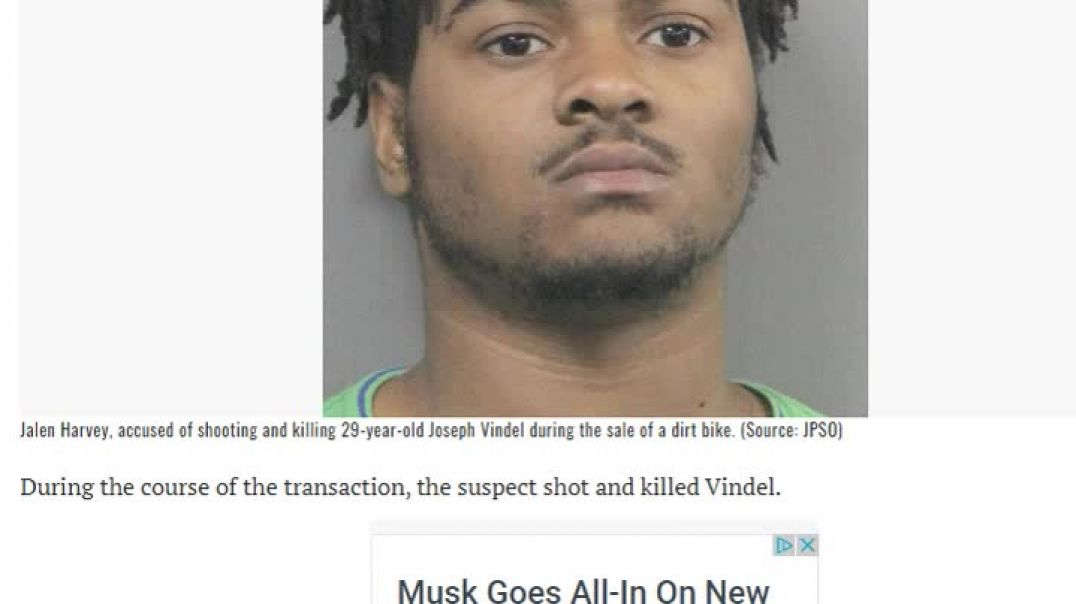 Menace To Society Negro Murdered 29 Yr Old Man Selling Dirt Bike
