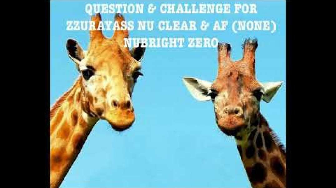 Nuben Menkarayzz - Question & Challenge For Zzurayass Nu Clear & AF (None) Nu Bright Zero